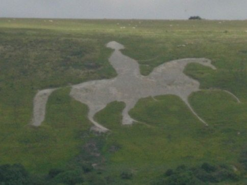 The Osmington White Horse Prior to Restoration (Photo by Val Vannet/Creative Commons via Wikimedia)