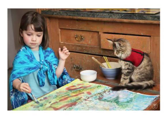 Thula and Iris Painting (Image via Facebook)