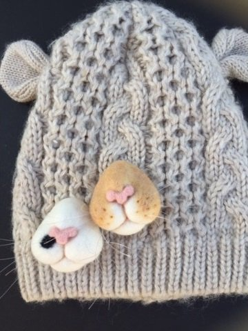 Cute Creepy Cat Snout Brooches