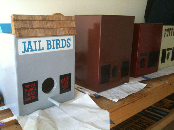 For The Birds, in various stages of development: by Luke Bartels & Jeff Canham via myloveforyou.typepad.com