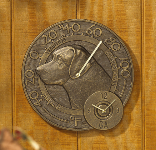 The Labrador Thermometer Clock