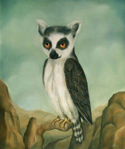 Lenchanteur by Perier: Eagle Lemur Art by Perier