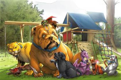 """First Dog """"Bo"""" in """"Lockjaw and the Pet Avengers"""""""