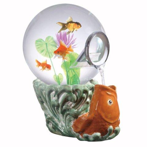 Magic Globe Aquarium with Koi Goldfish Base