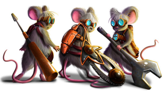 Mechanic Mice by Anntema: I would put these mice to work. They look ready to go!