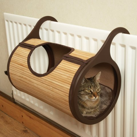 Make Your Cat Toasty With A Moggy Jolly Bamboo Radiator