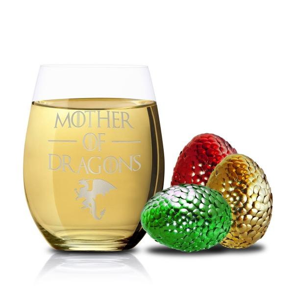 Mother of All Dragons Stemless Wine Glass