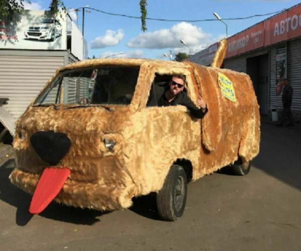 Clever Russian Actor Recreates Dumb And Dumber Van