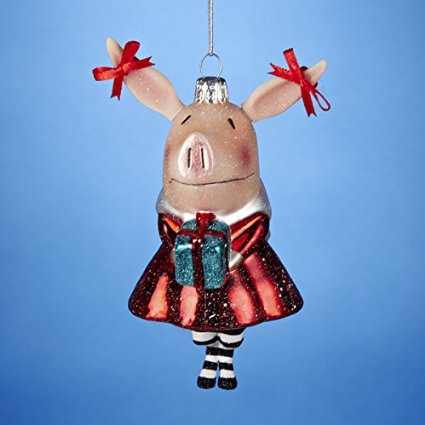 This adorable ornament is fashioned for the children's character Olivia the  Pig, but in her darling Christmas outfit and gift, she makes a perfect gift  for ... - 10 Adorable Christmas Ornaments For Pig Lovers Petslady.com