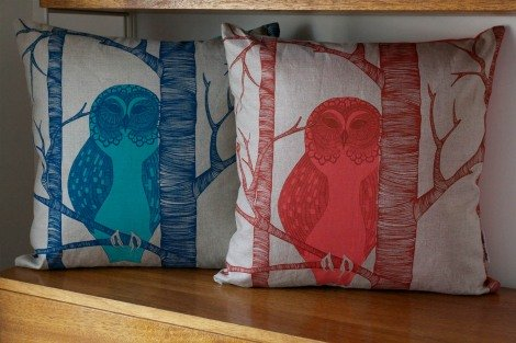 The Owls - pillow designs by Camilla Meijer