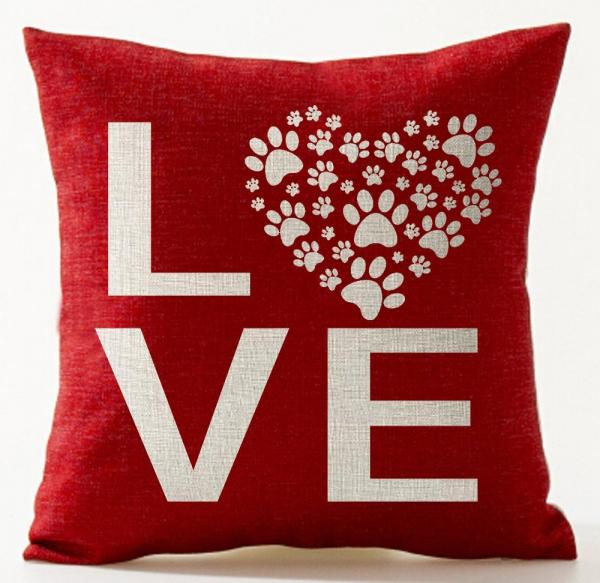 Sweetheart Dog Pillow Cover