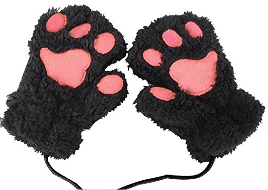 Fingerless Cat's Paw Gloves