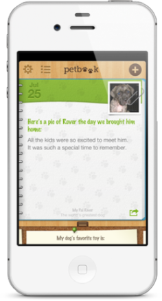 PetBook iPhone app