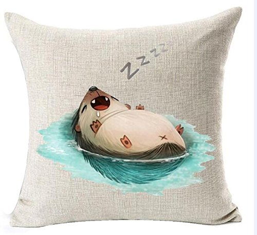 Funny Hedgehog Throw Pillow Case