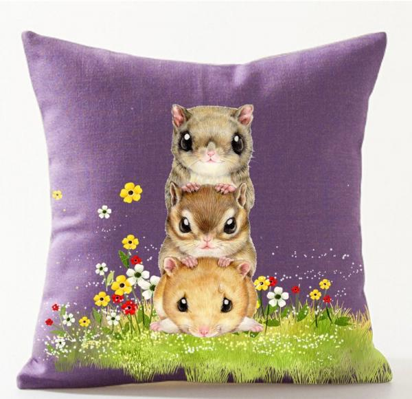 Funny Hamster Throw Pillow Case