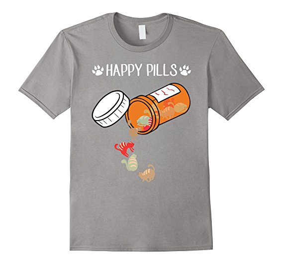 Happy Pills Cat Lover's T-Shirt