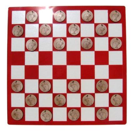 Fancy Rabbit Checkers Board