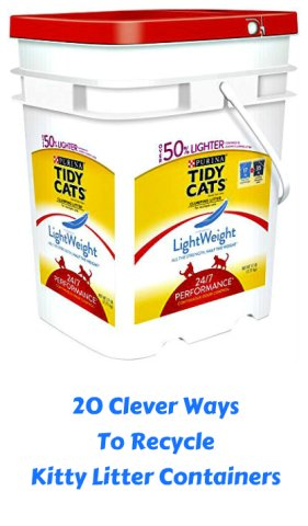 ingenious home recycling bin ideas. If you ve got cats  chances are multiple kitty litter containers Since they began putting in convenient re resealable tubs 20 Clever Ideas For Recycling Kitty Litter Containers Petslady com