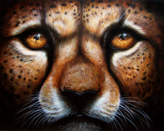Save Me by Kodriak: This cheetah art by Kodriak has tremendous expression in the face.