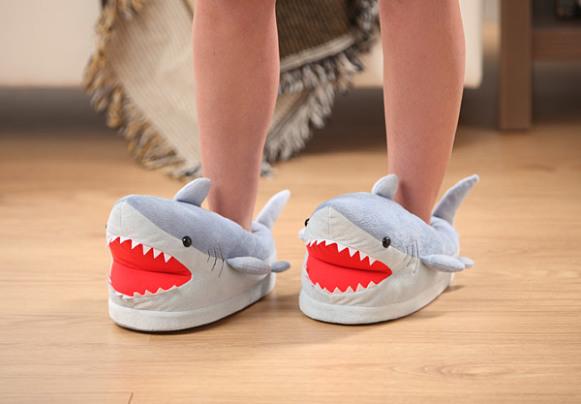 Shark Plush Slippers