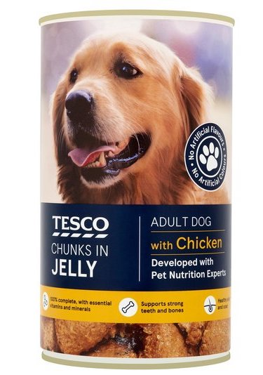 Tesco dog food