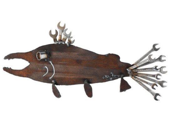 Socket Eye Salmon Sculpture Perfect Art For The Tool Guy