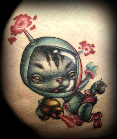 Space Kitty by Doty: One small step for felines... this is some cat art that is truly out there by Kelly Doty.