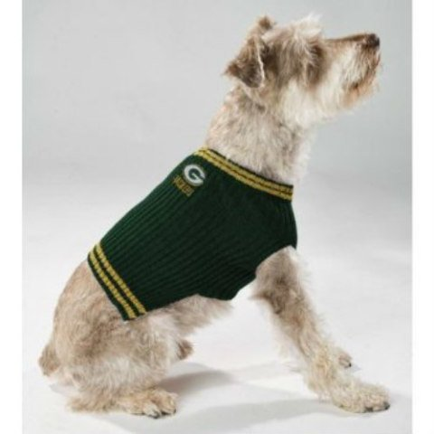 Cute Sports Team Dog Sweater by Pets First on Amazon: Don't get dog sweaters made of wool or other scratchy fiber