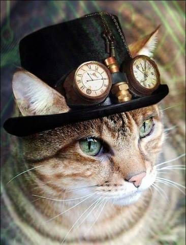 Steampunk Kitty (Image via Steampunk Tendencies)