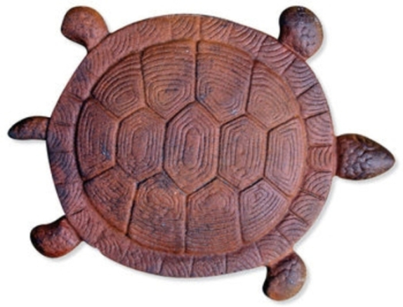 Cast Iron Turtle Stepping Stone By Sunset Vista