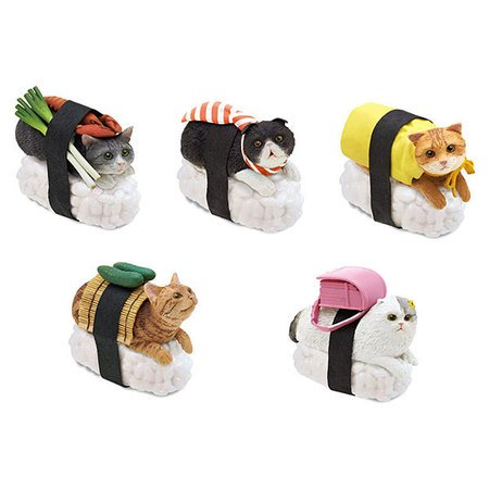 Sushi Cat Key Chain