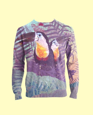 Toucan Art by Turner: Two toucans on a t-shirt.
