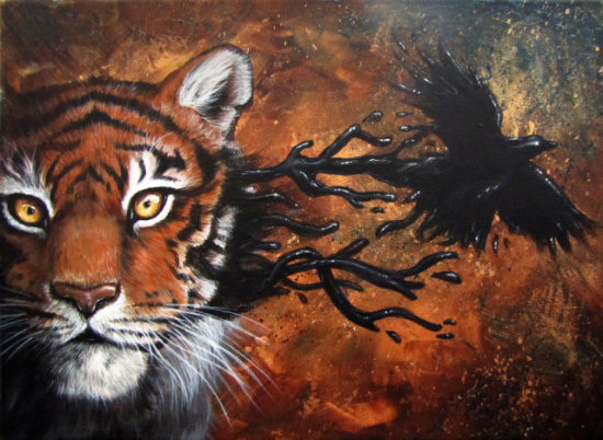 Two Bodies One Soul by Kodriak: I think I would be just as surprised as this tiger looks.