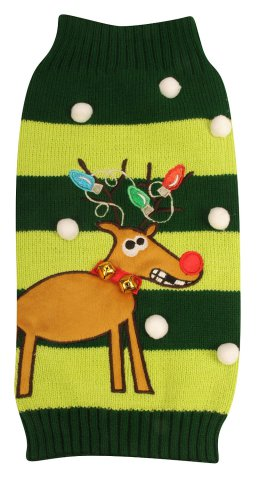 Freaky Rudolph Ugly Christmas Dog Sweater