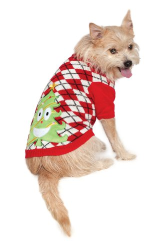 Scary Christmas Tree Dog Sweater