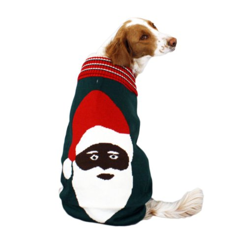Creepy Santa Ugly Christmas Dog Sweater
