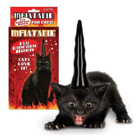 Evil Inflatable Unicorn Horn for Cats