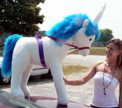 Blue Giant Stuffed Unicorn