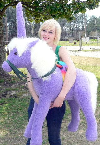 Purple Giant Stuffed Unicorn