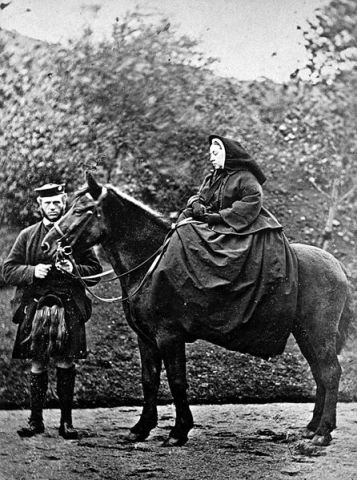 Queen Victoria with John Brown (Public Domain Image)
