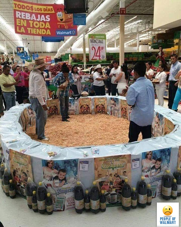 Did A Mexican Walmart Just Hold An In-Store Cockfight?
