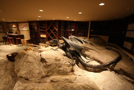 Dragon by Williams: This dragon sculpture guards a wine cellar. No word on whether it knows Beowolf or Bilbo Baggins though.
