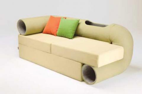 Attractive Cat Tunnel Sofa Gives Cats A Place To Play When The Mice Are Away |  Petslady.com Ideas