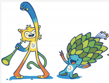 Vinicius and Tom - Rio mascots