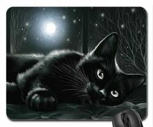 Black Cat Mouse Pad