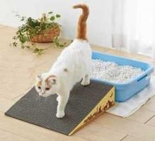 Cat Litter Box Ramp Cleans Kitty Paws, Eases Feline Anxiety