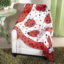Ladybug Fleece Throw