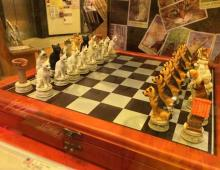Cats & Dogs Chess Set Livens Up Board Game Battles
