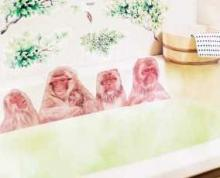 Snow Monkey Stickers Turn Your Bath Tub Into A Japanese Hot Spring