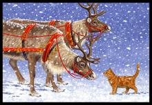 Reindeer and Cat Doormat